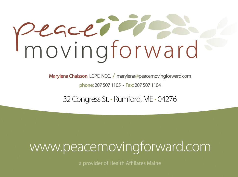 Peace Moving Forward Logo and Card