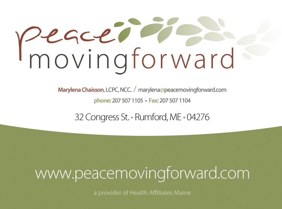 Peace Moving Forward Logo and Card