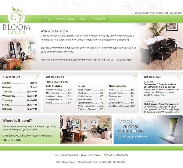Bloom Salon Landing Page