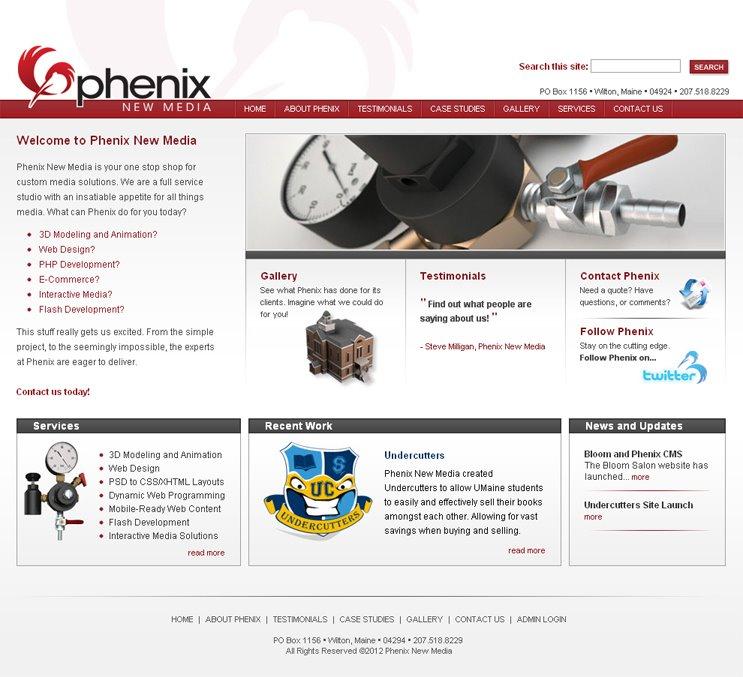 PERSONAL Phenix Landing Page