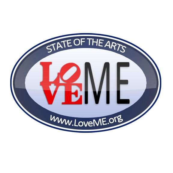 LoveME Sticker for Maine Arts Commission